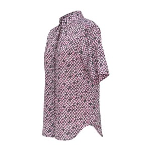 See by Chloé Button-up Shirt Blouse Button Down Shirt Gray & Pink