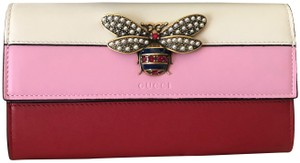 Gucci NEW Gucci Queen Margaret Continental Wallet Red Pink White