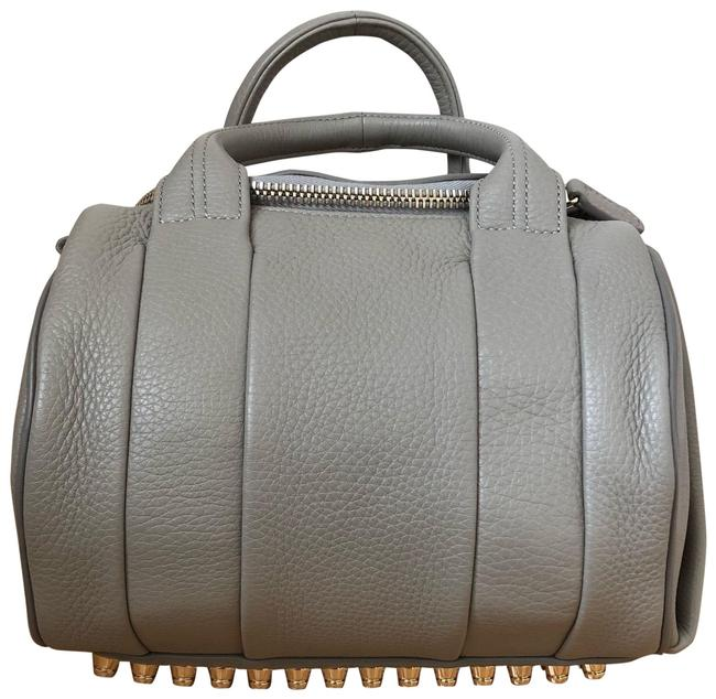Item - Rockie In Oyster Soft Pebble with Pale Gold Hardware Gray Lambskin Leather Shoulder Bag