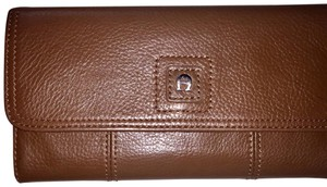 Etienne Aigner Large Leather Trifold Wallet