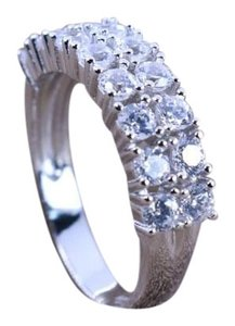 KWS 3.2 ct.tw 2 Eternity Band Ring-Brilliant Cut Deco