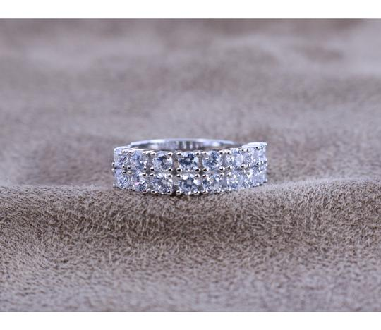KWS 3.2 ct.tw 2 Eternity Band Ring-Brilliant Cut Deco Image 2