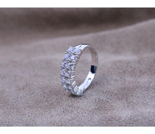 KWS 3.2 ct.tw 2 Eternity Band Ring-Brilliant Cut Deco Image 3