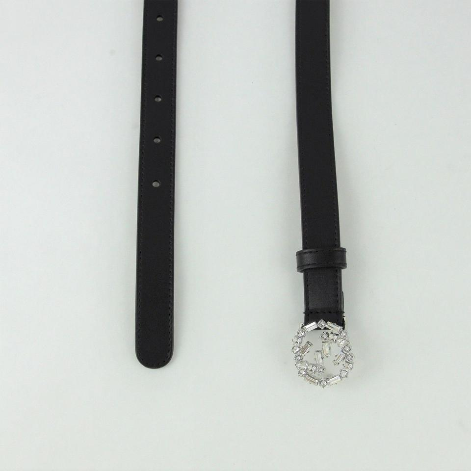 438d0ccb7e3 Gucci Women s Black Leather Skinny Belt w crystal Buckle 105 42 354380 1000  Image. 1234567
