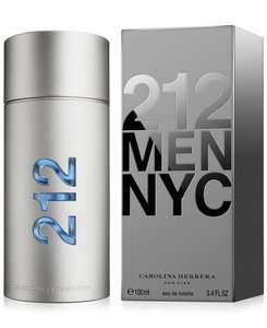 Carolina Herrera 212 by Carolina Herrera 3.4 oz / 100 ml EDT Spray for Men,New !!