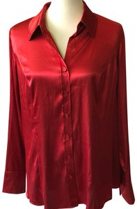Marks & Spencer Button Down Shirt red