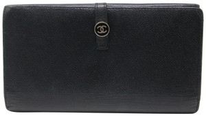 Chanel Signature Coco Snap Button Double Hook Long Caviar Leather
