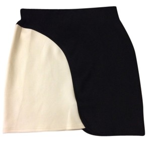 Silence + Noise Skirt Black And White
