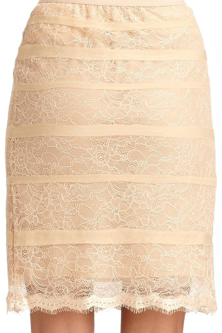 Item - Nude Lace Pencil Skirt Size 8 (M, 29, 30)