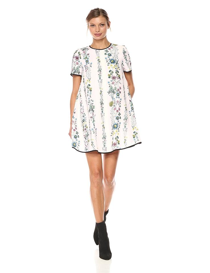 1e5e247bbf1b Ted Baker Nude Pink London Soffiah Floral Shift Short Casual Dress ...