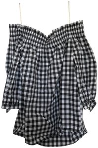 Kate Spade Off The Shoulder Ots Gingham Tunic