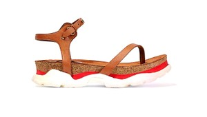 Stella McCartney Cork Rubber Sandal Brown, red and white Platforms