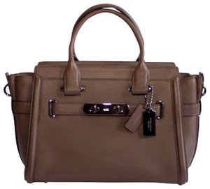Coach Swagger Leather New Without Tags Satchel in BROWN/DARK GUNMETAL