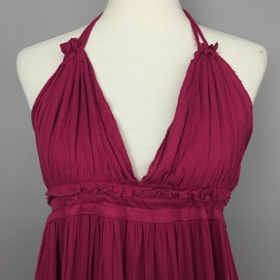 03887f126a6 Purple Women s Sexy Backless Boho Sundress Short Casual Dress Size 8 (M) -  Tradesy
