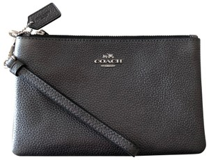 Coach Wristlet in Metallic Graphite