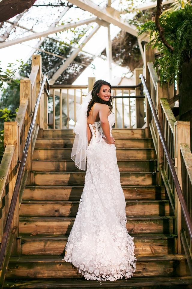 Pnina Tornai White Lace Crystal Gown Sheer True Corset Bodice ...