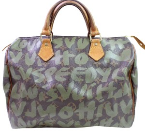 Louis Vuitton Sprouse Graffitti Kusama Limited Edition Monogramouflage Satchel in Khaki