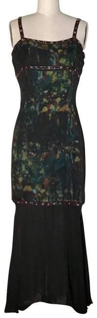 Item - Multicolor Vintage 1990s Runway Mid-length Cocktail Dress Size 6 (S)