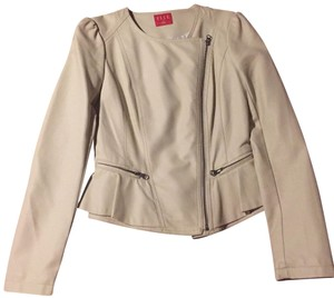 Elle beige Leather Jacket