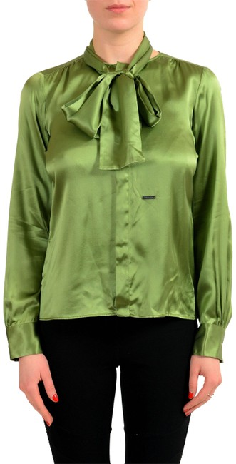 Item - Green V-9098 Button-down Top Size 2 (XS)