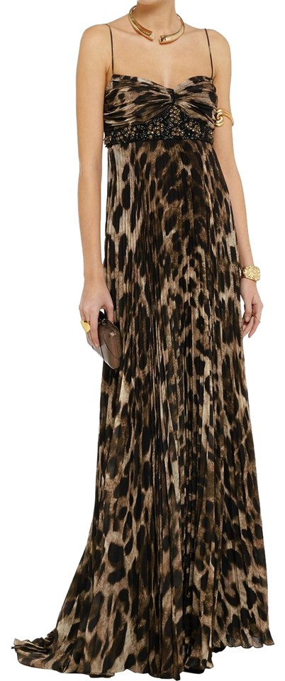3a983ea200e Badgley Mischka Collection Embellished Leopard Print Gown Long Formal Dress  Size 8 (M) 41% off retail
