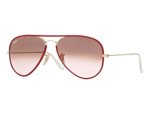 Ray-Ban Ray Ban Men Sunglasses RB3025JM 001/X3 Gold/Red Frame Brown/Pink Lens