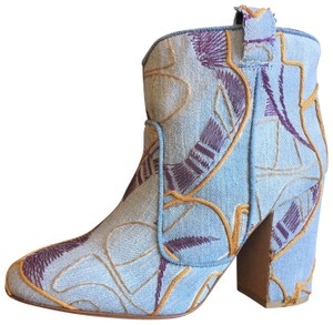 Laurence Dacade Embroidery Denim/Multi Boots