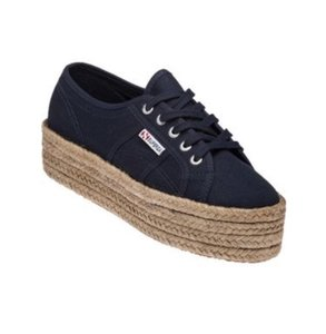 Superga Navy Platforms