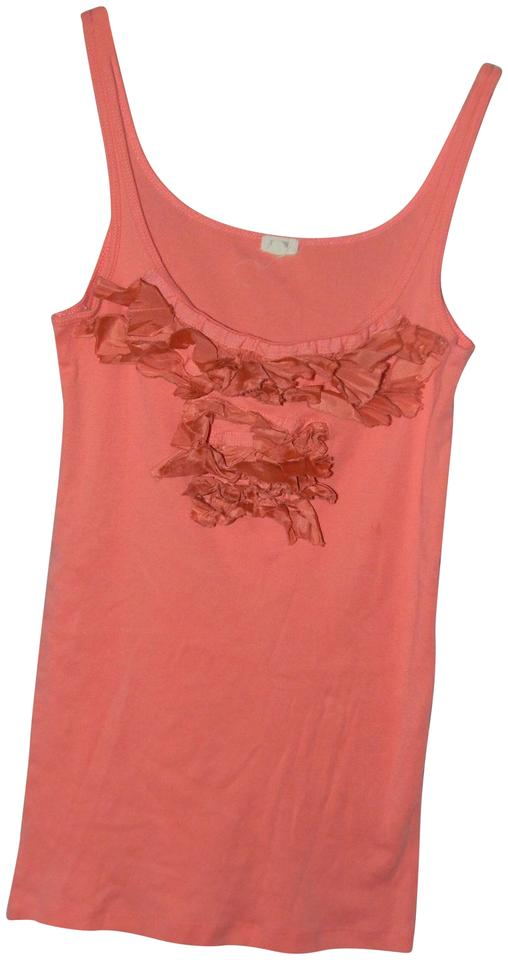 0cab040057751e J.Crew Peach Cotton Ruffled Bust Sleeveless Tank Top Cami Size 6 (S ...