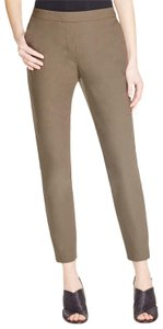 Theory Thaniel Stretch Straight Pants Olive Green
