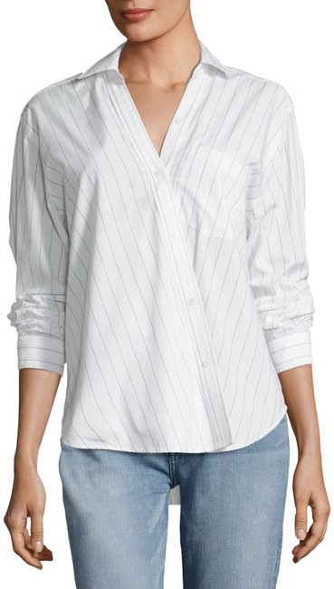 Item - White/Black First Born Button-down Top Size 8 (M)