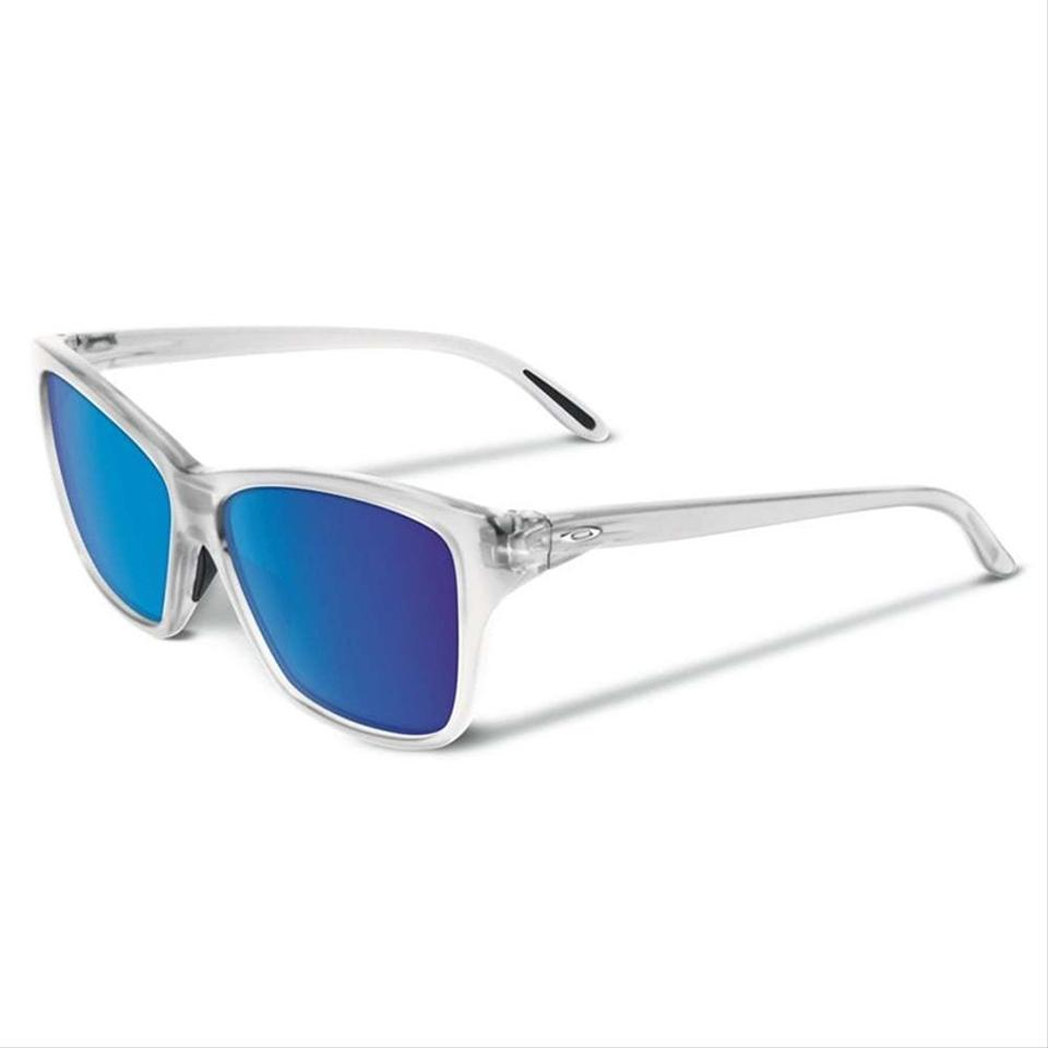 Oakley Clear & Blue Women Square Oo9298-09 Frame Mirror Lens ...