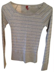 H&M T Shirt gray/blue striped