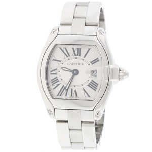 Cartier Roadster Ladies Small Silver Roman 30mm Steel W62016V3 Box/Papers