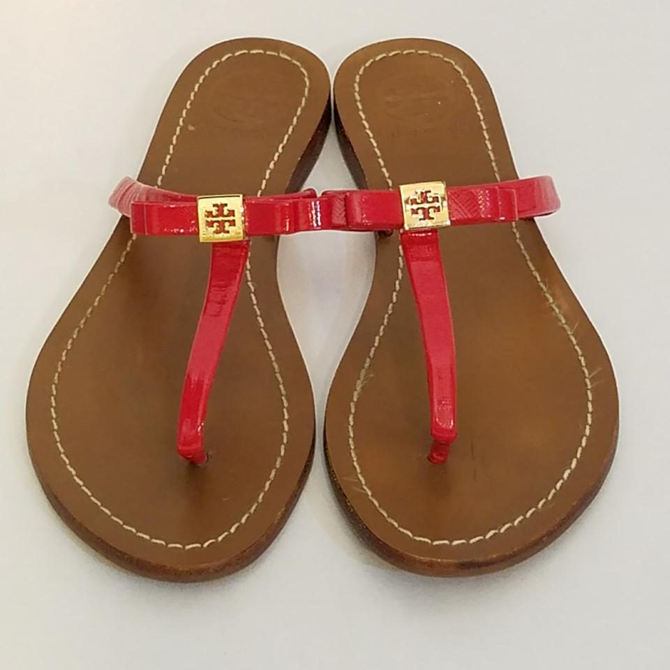 65d8a26f63c Tory Burch Red Leighanne Thong Sandals Size US 8 Regular (M