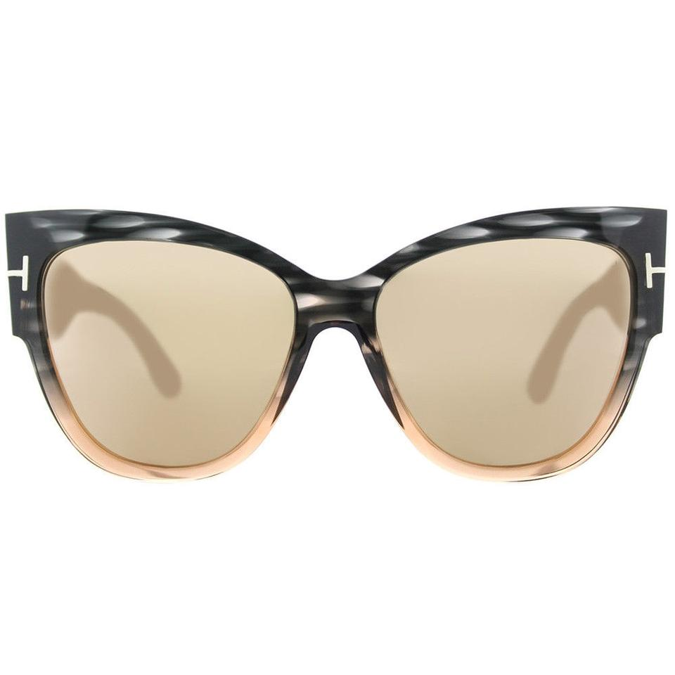 7db23c9a0f10 Tom Ford Tom Ford Anoushka TF0371 20G Grey Peach Sunglasses Pink Flash Lens  Image 0 ...