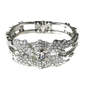 Elegance by Carbonneau Silverplated Rhinestone Bangle Bracelet