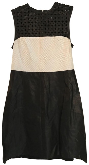 Item - Black and White Mixed & Short Work/Office Dress Size 12 (L)