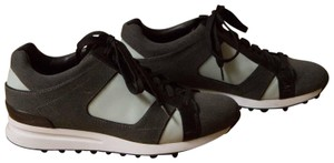 3.1 Phillip Lim High Top Trainers Flats Oxfords Sneakers Heather Grey / Peppermint Athletic