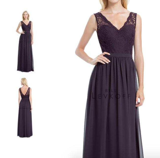 Item - Plum (Eggplant Purple) Chiffon 1172 Formal Bridesmaid/Mob Dress Size 6 (S)