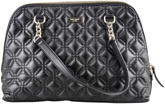 Item - Whitaker Quilted Rachelle Black Leather Satchel