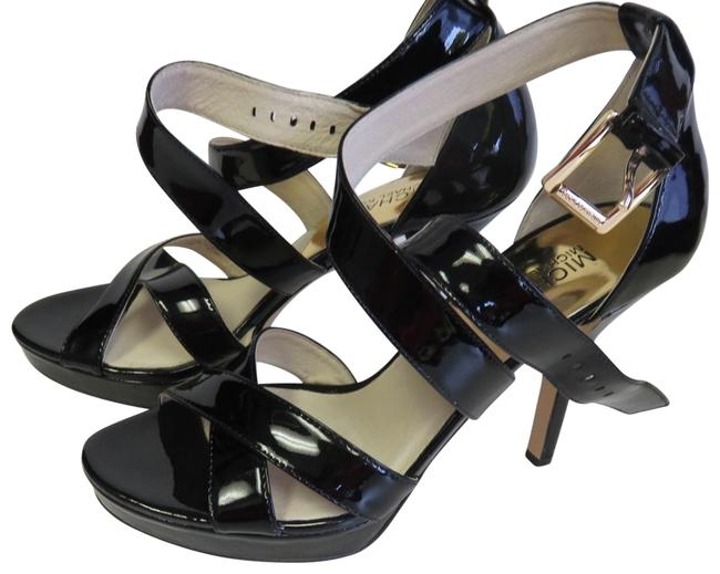 Michael Kors Black High Heel M Mules/Slides Size US 7.5 Regular (M, B) Michael Kors Black High Heel M Mules/Slides Size US 7.5 Regular (M, B) Image 1
