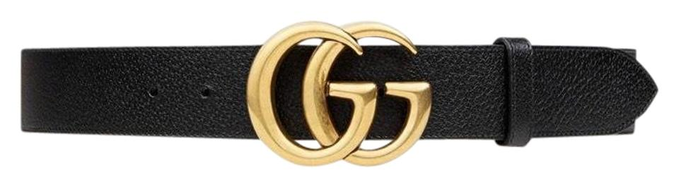 406dcaef2 Gucci Black Leather with Double G Buckle 80/32 Belt - Tradesy
