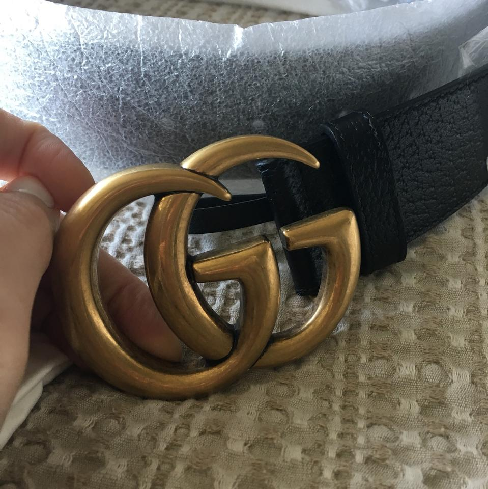 3da275ec8 Gucci Leather Belt with Double G Buckle 80/32 Image 6. 1234567