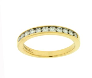 Tiffany & Co. Yellow Gold Co 3 Mm Channel Diamond Band Size 6.75 Ring