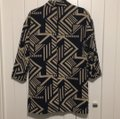 Old Navy Navy/Cream Patterned Coat Size 4 (S) Old Navy Navy/Cream Patterned Coat Size 4 (S) Image 4