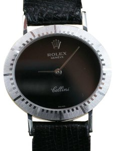 Rolex Ladies Rolex Cellini Manual Winding Black Dial Watch