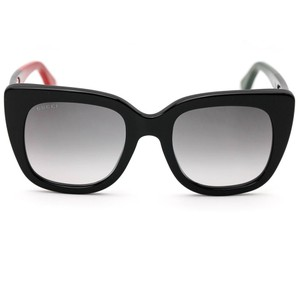 Gucci Gucci 0163S Sunglasses Black Cat Eye Frame with Grey Gradient Lens