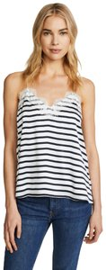 cami nyc Striped Racer Back Lace Lace Trim Top Blue / White