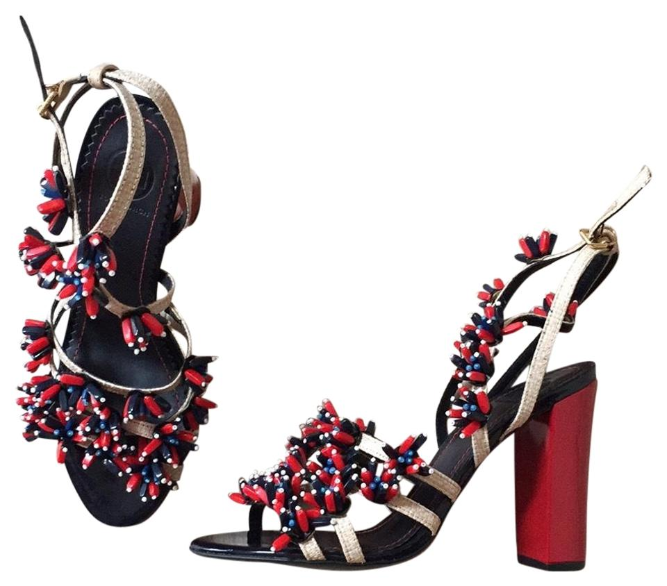 Tory Burch Blue and and Blue Red Sandals de8f9e